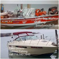 Walleye, Bass & Salmon Fishing Charter Boats